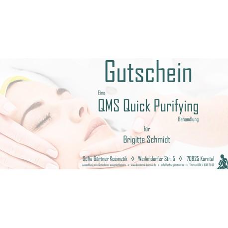 Behandlungsgutschein QMS Quick Purifying