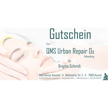 Behandlungsgutschein QMS Urban Repair O2